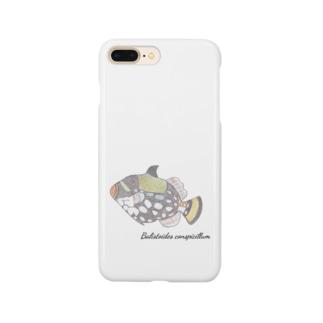 ゆぅかのモンガラカワハギ Smartphone cases