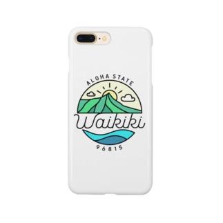"General Tshirts StoreのAloha State ""Waikiki"" Smartphone cases"