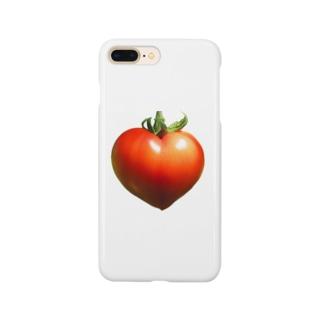 ハートのトマト ミニタイプ Smartphone cases