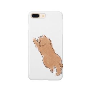 こぐま犬スーパーマンのポーズ Smartphone cases