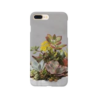 多肉植物 セダムの花 Smartphone cases