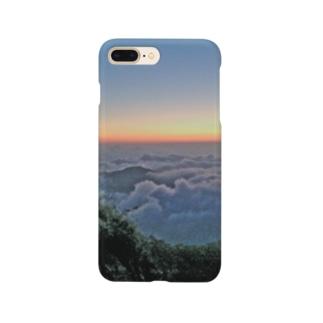 夜明け前 雲海 Smartphone cases
