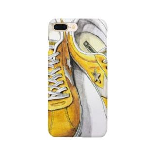 スニーカーのイラストデザイン Smartphone cases