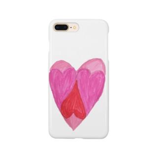 複合ハート Smartphone cases
