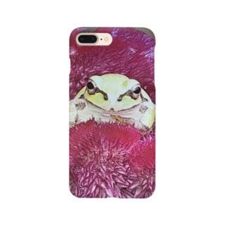 ケイトウのベッド 雨蛙 Smartphone cases