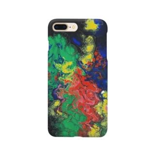 黄金桃と猫の宵闇 Smartphone cases