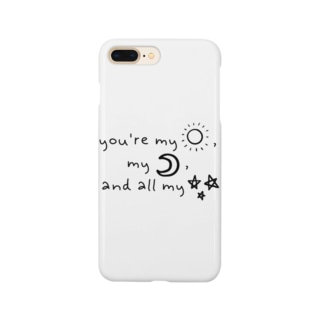 RIRI_designのyou're my sunshine, my moon, and all my stars(黒) Smartphone cases