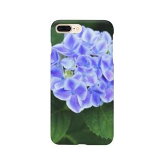 ブルーなアジサイ Smartphone cases