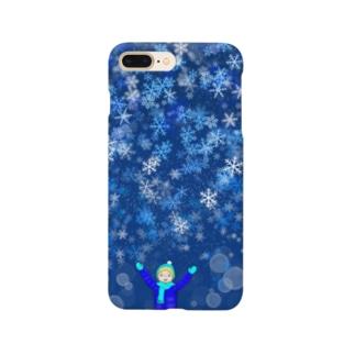 Shop-TSUMIKIのラブリースノウ Smartphone cases