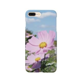 ピンクのコスモス Smartphone cases