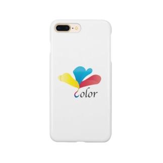 三原色のクローバー Smartphone cases
