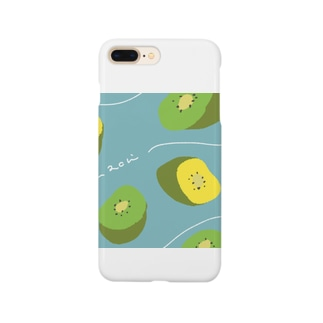 achi no design shop のキウイ Smartphone cases