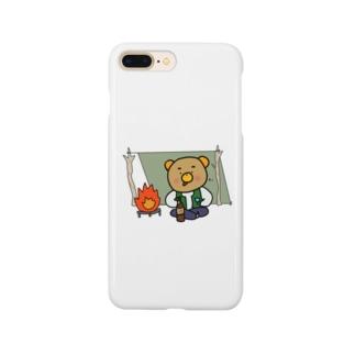 キャンパーくまごろう Smartphone cases
