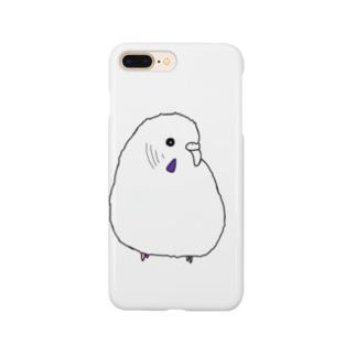 白黒よこむきもふけいちゃん Smartphone cases