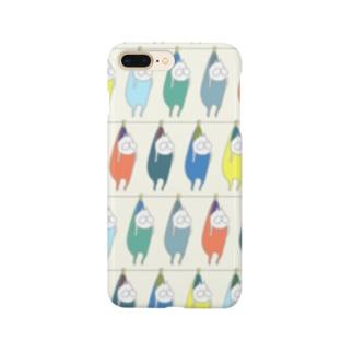 ねこタイツの洗濯 カオスブルー Smartphone cases