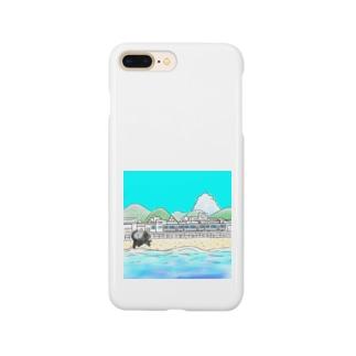 海辺の街とネコ Smartphone cases