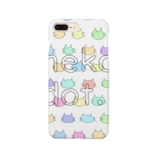 ねこドット(パステル) Smartphone cases