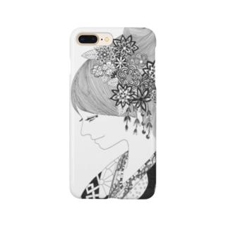 花飾りの人 Smartphone cases