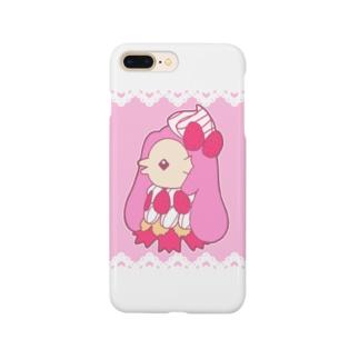 いちごパフェアマビエ Smartphone cases