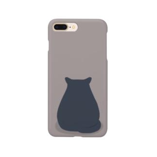 後ろ向きネコさん Smartphone cases