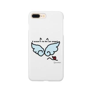 Yamadatinkuの天使になりたい黒猫 Smartphone cases