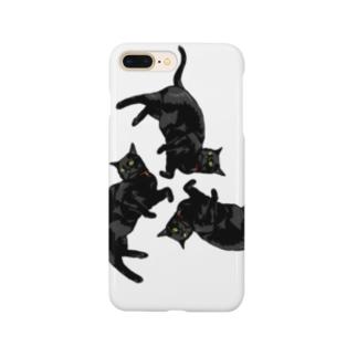 黒猫トライアングル Smartphone cases