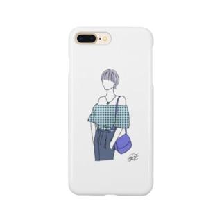 夏の青色カラー。 Smartphone cases
