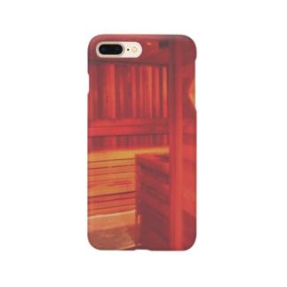 KAERUCAFE SHOPのサウナ Smartphone cases