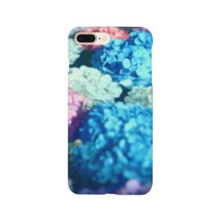 水と紫陽花 Smartphone cases