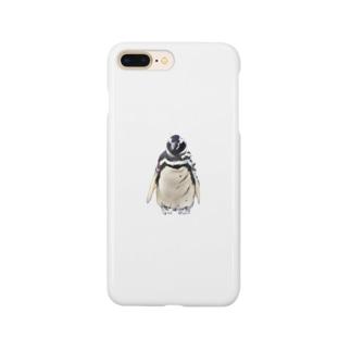 こはくさんとぺんぎんのリアルカクカクペンギン Smartphone cases
