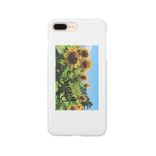 Sunny's with sunflowers iPhoneケース Smartphone cases