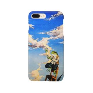 雲をつかんだカエル Smartphone cases