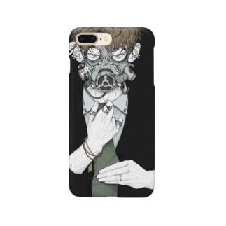 ガスマスくん Smartphone cases