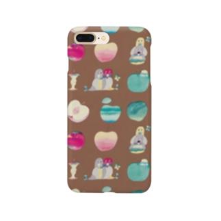 KAERUCAFE SHOPのりんご Smartphone cases