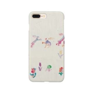 KAERUCAFE SHOPのうさぎ Smartphone cases
