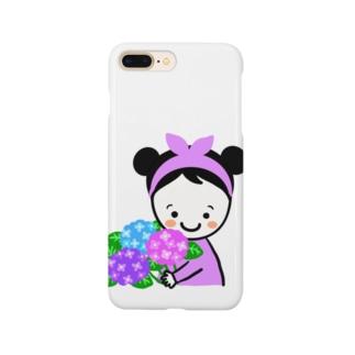 紫陽花スマイルちゃん Smartphone cases