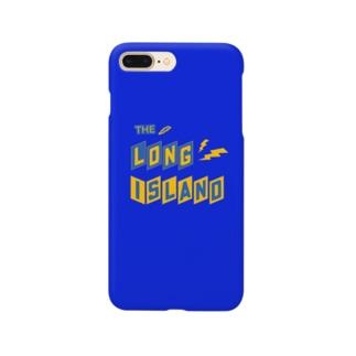 平行四辺形デザイン ネイビー ケース Smartphone cases
