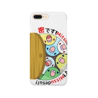 密です!マメルリハさん【まめるりはことり】 Smartphone cases