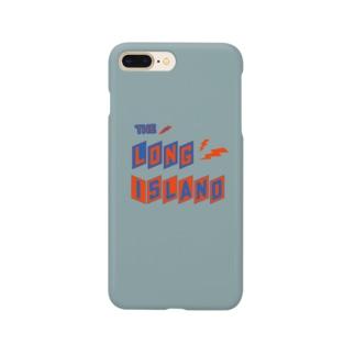 平行四辺形デザイン グレー ケース Smartphone cases