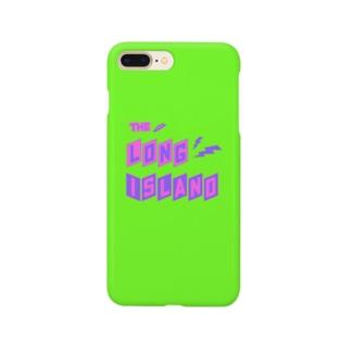 平行四辺形デザイン グリーン ケース Smartphone cases