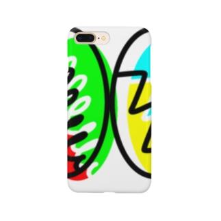 クルクルとギザギザ(スマホケース) Smartphone cases