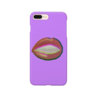 リップ(パープル) Smartphone Case