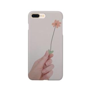 牡蠣が好きのお花 Smartphone cases