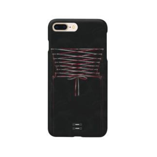コルセット包帯止め(magenta) Smartphone cases