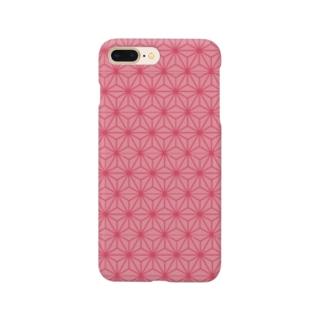 麻の葉文様 ピンク 鬼滅の刃 ねずこ Smartphone cases