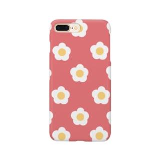 White Flower(オレンジローズ) Smartphone cases
