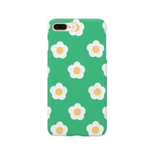 White Flower(グリーングリーン) Smartphone cases