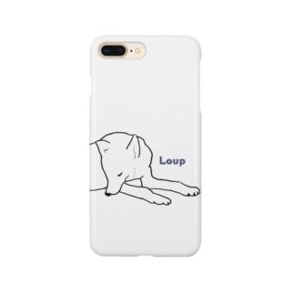 ねそべるおおかみ Smartphone cases