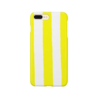 イエローストライプ Smartphone cases
