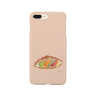 フルーツサンド(背景色あり) Smartphone cases